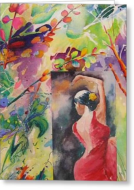 Dance Of The Flowers Greeting Card by John Nussbaum