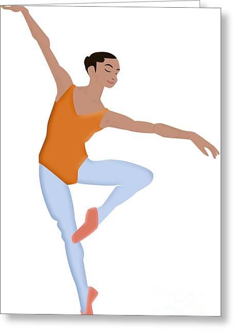 Dancer Greeting Card by Melissa Stinson-Borg