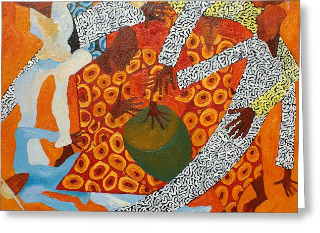 Dancers IIi Greeting Card by Anina von Wachtel Diani Beach Art Gallery