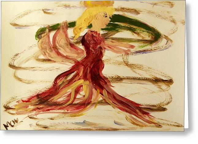Dancing Angel Greeting Card by Mary Carol Williams