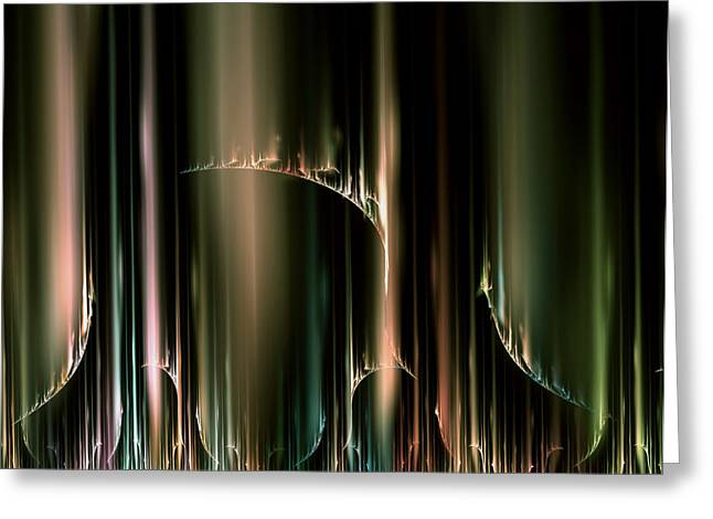 Dancing Auroras Curtains In The Sky Greeting Card