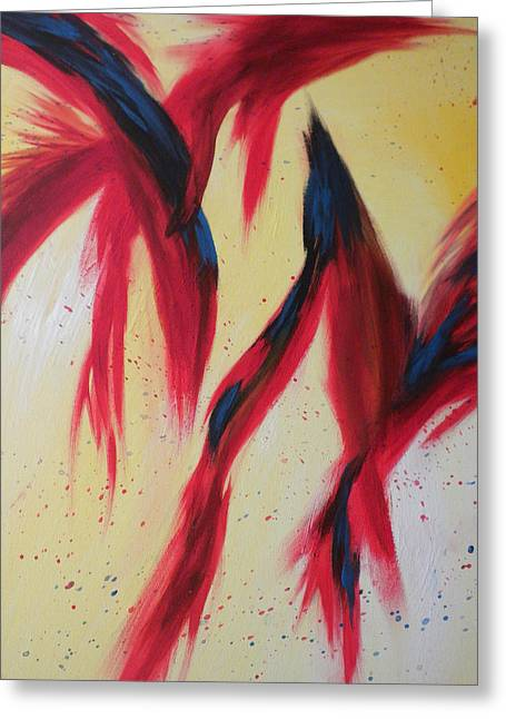 Dancing Birds Greeting Card by Silvie Kendall