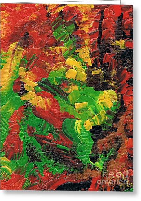 Dancing Colors Greeting Card by Oliver Betsch