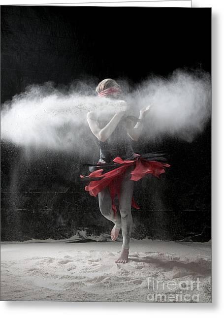 Dancing In Flour Series Greeting Card