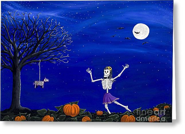 Dancing In The Pumpkin Patch  Greeting Card