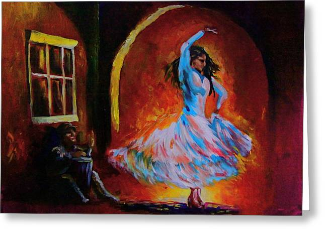 Dancing In The Square Greeting Card by Jerry Frech