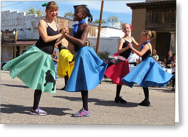Dancing In The Streets Greeting Card by Feva  Fotos