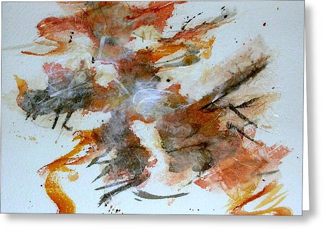 Greeting Card featuring the mixed media Dancing by Mary Kay Holladay