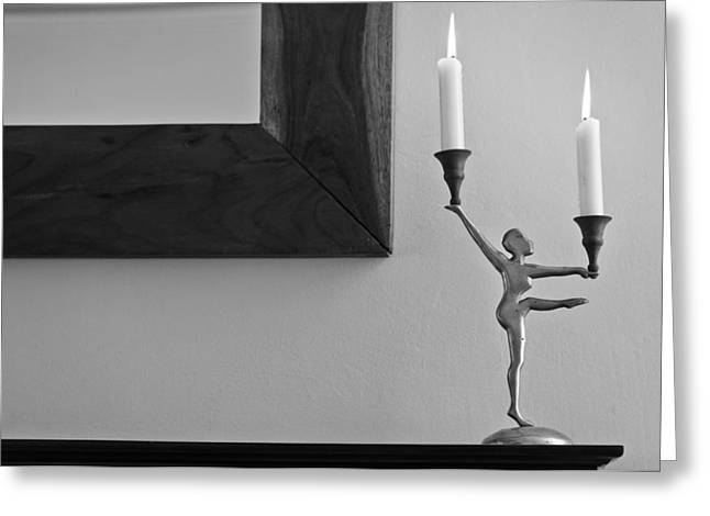 Dancing On The Ledge Greeting Card