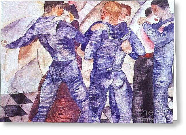Dancing Sailors Greeting Card by Pg Reproductions