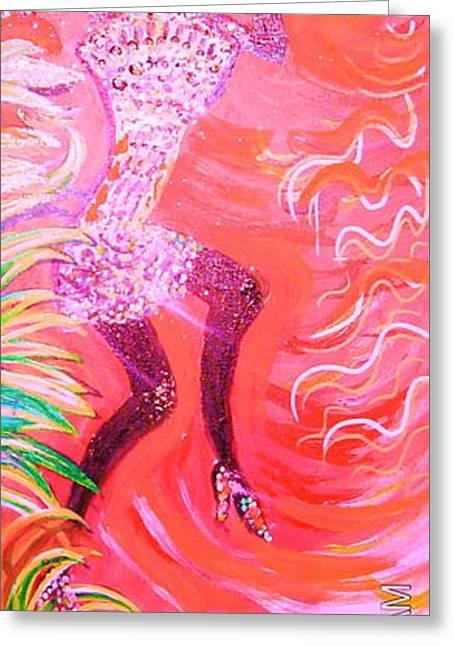 dANCING THE nIGHT aWAY Greeting Card by Anne-Elizabeth Whiteway