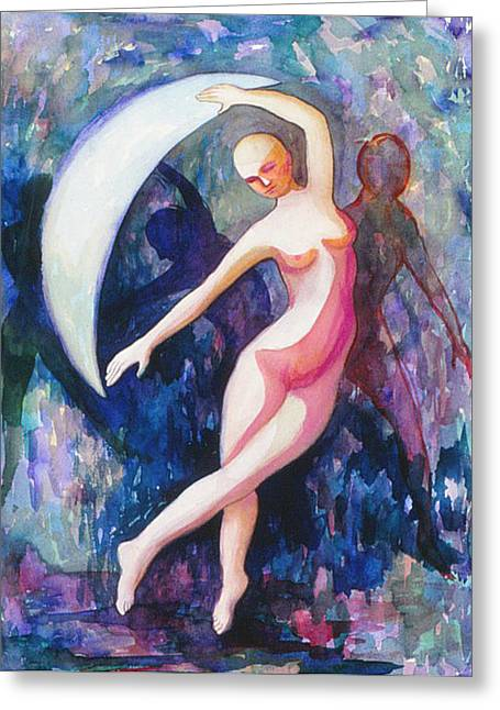 Dancing With The Moon Greeting Card
