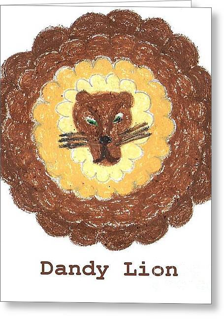Dandy Lion - White Background Greeting Card