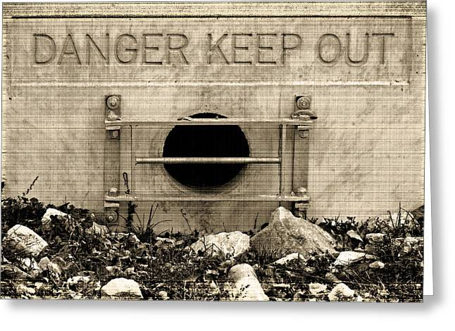 Danger  Keep Out Greeting Card