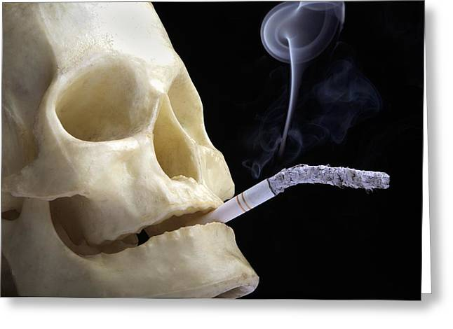 Dangers Of Smoking, Conceptual Image Greeting Card by Victor De Schwanberg