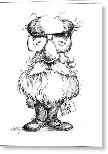 Daniel Dennett, Us Cognitive Scientist Greeting Card by Gary Brown