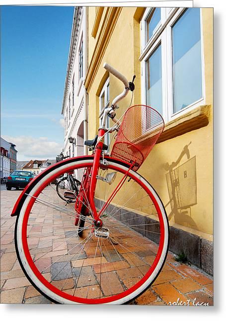 Danish Bike Greeting Card by Robert Lacy