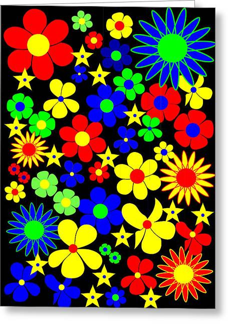 Danish Flowers - Flora Danica Greeting Card by Asbjorn Lonvig
