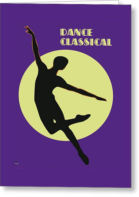 Classical Dancer Greeting Card by Joaquin Abella