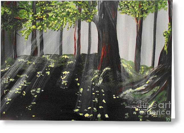 Dappled Forest 1 Greeting Card by Jayne Kerr