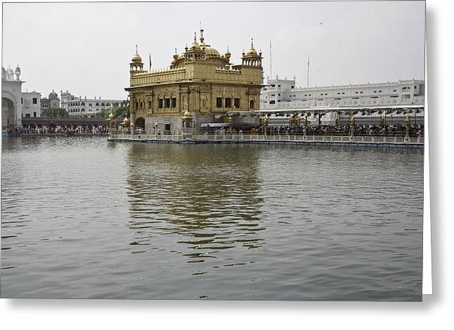 Darbar Sahib And Sarovar Inside The Golden Temple Greeting Card
