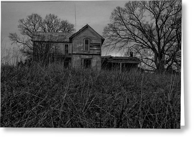 Dark Homestead Greeting Card by Victoria Lawrence