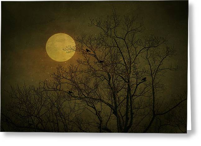 Greeting Card featuring the photograph Dark Moon by Robin Dickinson