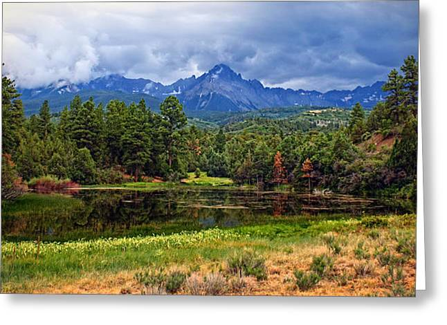 Dark Mountain Lake Greeting Card