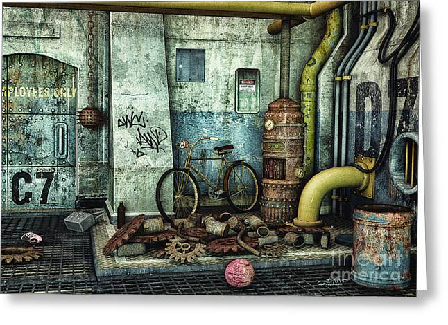 Dark Places Tell Stories Greeting Card by Jutta Maria Pusl