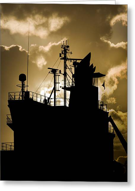 Dark Superstructure Greeting Card