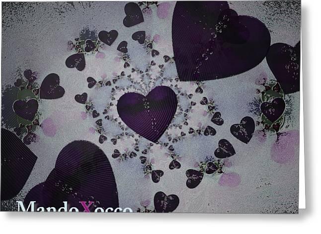 Dark Violet Greeting Card