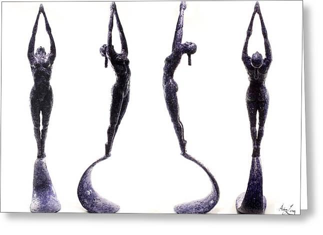 Dark Violet Matter Composite Of Several Views Greeting Card