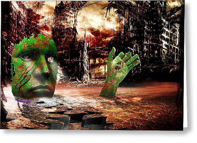 Dark Worlds 2 Greeting Card by Wendy White