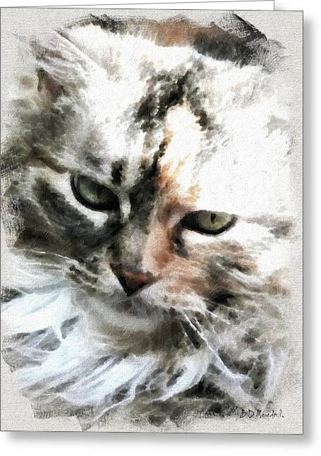 Darling 'kitty' Greeting Card by Brian D Meredith