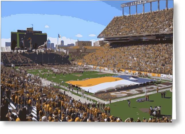 Darrell K Royal Texas Memorial Stadium Color 16 Greeting Card by Scott Kelley