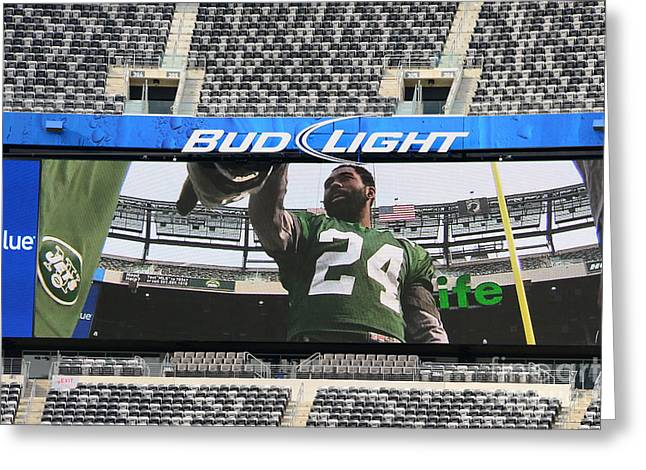 Darrelle Revis - Ny Jets Greeting Card
