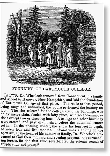 Dartmouth College Greeting Card by Granger