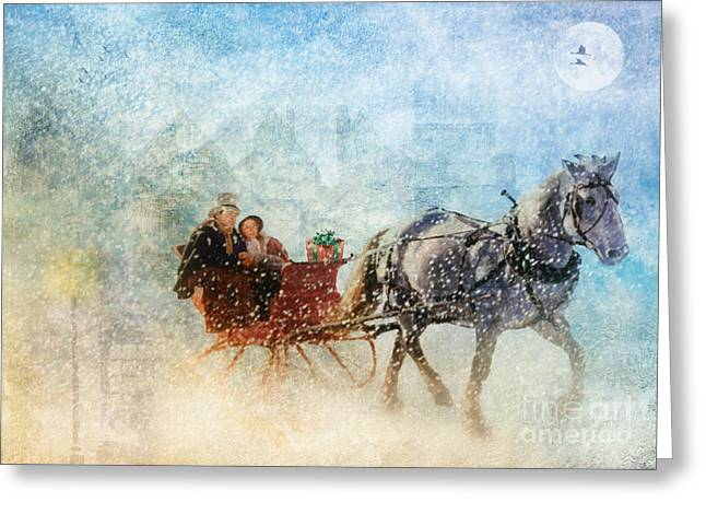 Dashing Through The Snow  Greeting Card