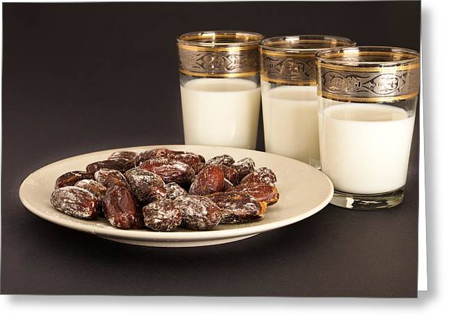 Dates And Milk Greeting Card