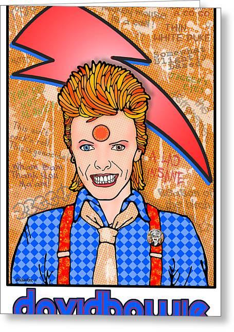 David Bowie Greeting Card by John Goldacker