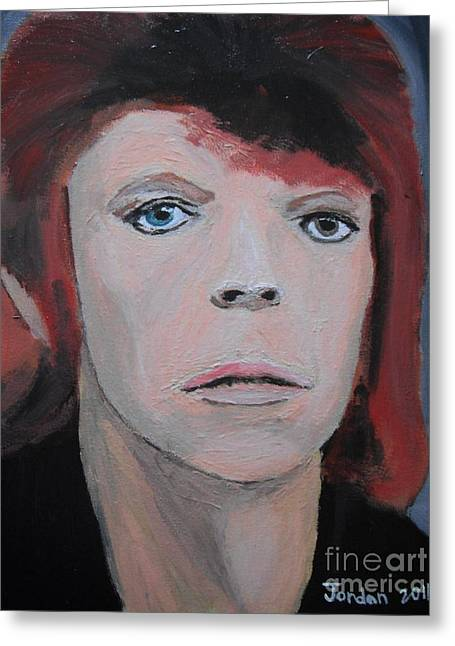 David Bowie The Early Years Greeting Card by Jeannie Atwater Jordan Allen