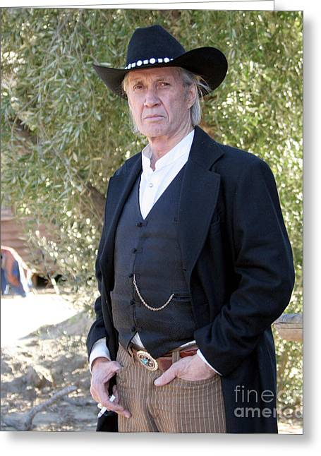 David Carradine Greeting Card by Nina Prommer