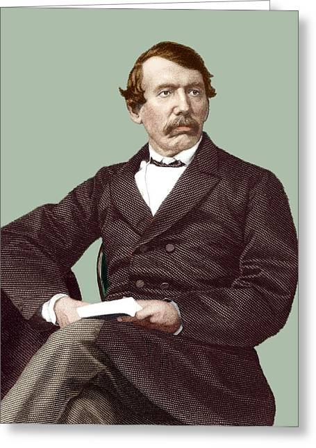 David Livingstone, Scottish Missionary Greeting Card by Sheila Terry