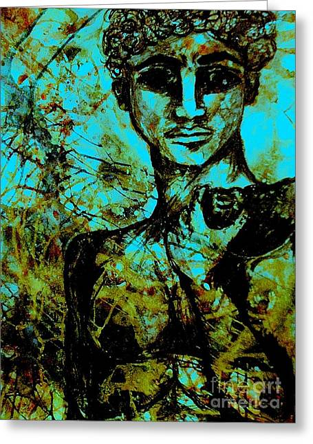 Greeting Card featuring the painting David Ll by Amy Sorrell