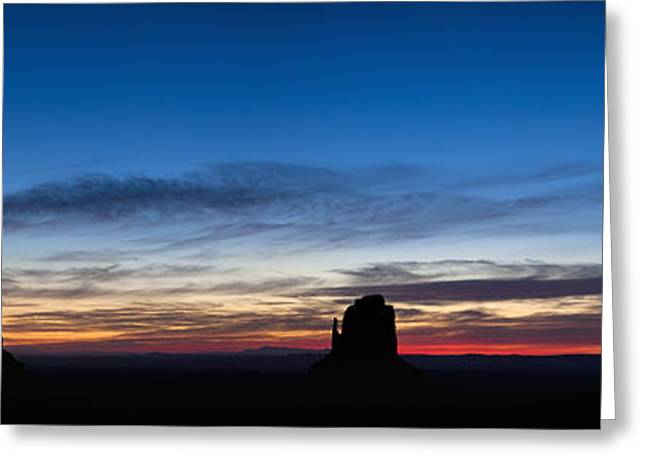 Dawn Breaking Over The Mittens Greeting Card by Andrew Soundarajan