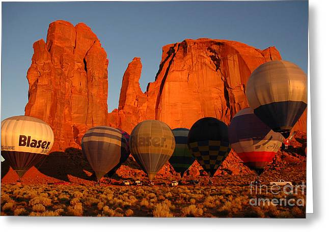 Greeting Card featuring the photograph Dawn Flight In Monument Valley by Vivian Christopher