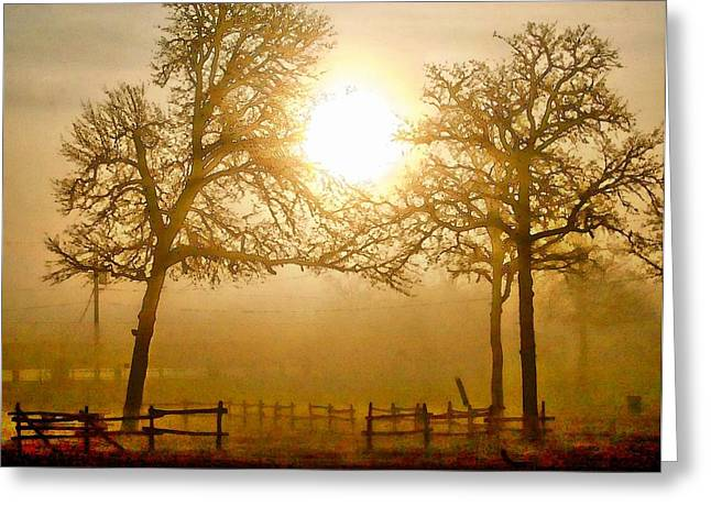 Dawn In The Country Greeting Card