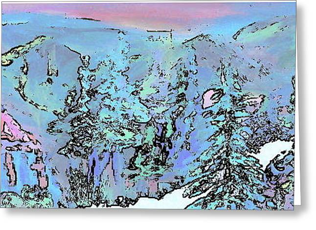 Dawn In The Sapphire Mountains Greeting Card