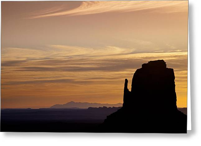 Dawn In The West Greeting Card by Andrew Soundarajan