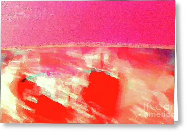 Dawn Of A Big Pink Greeting Card